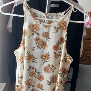 Forever 21 cream floral top